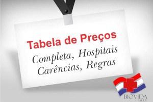 Tabela completa com hospitais, carências, regras Bio Vida Saúde